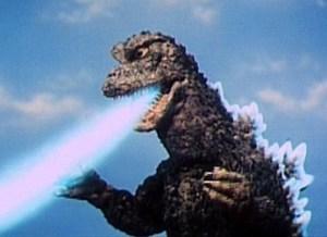 Godzilla in action