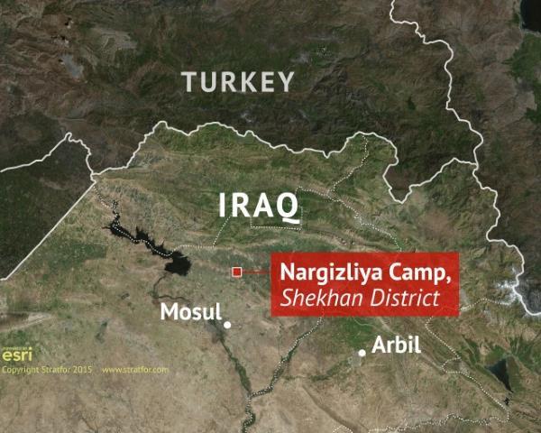 Map of Iraq and Turkey