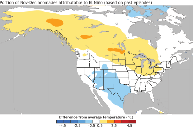 NOAA: warming due to ENSO in Nov-Dec 2015