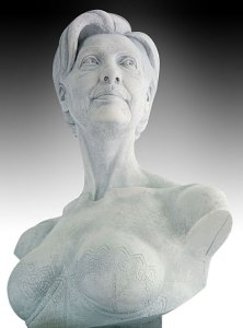 Bust of Hillary Clinton by Daniel Edwards