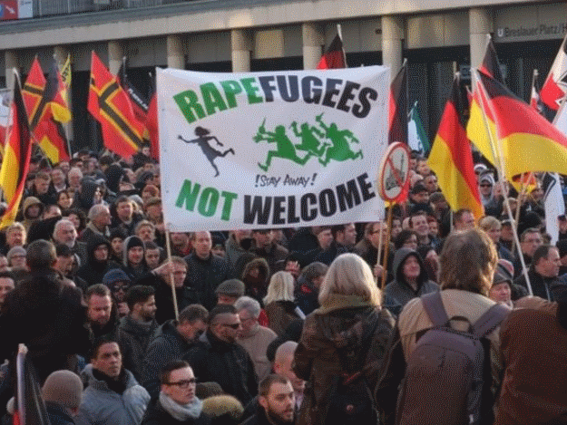 Protest against migrants in Sweden