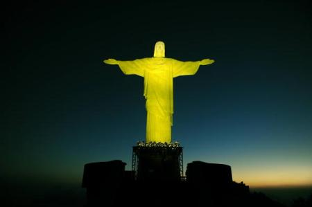 View of the renewed Christ the Redeemer
