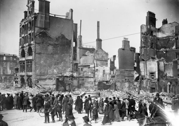 Dublin Bread Company after the Easter Rising In Ireland