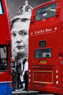 Queen Clinton's bus