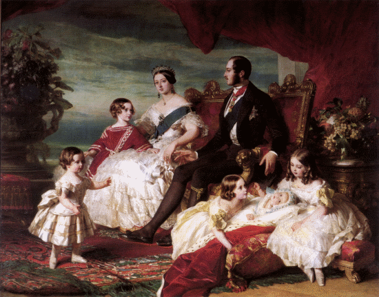 Queen Victoria and family by Franz Xaver Winterhalter (1846)