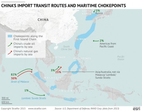 Maritime trade routes for China