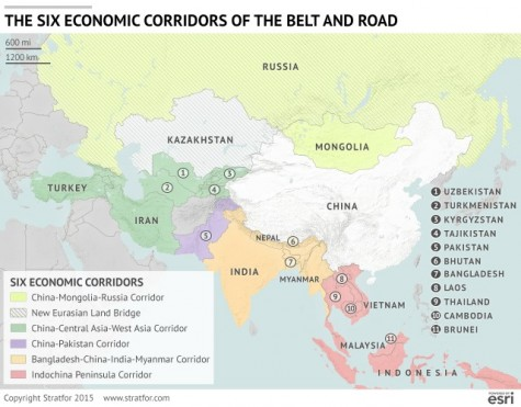 China's 6 economic corridors