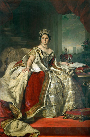 Queen Victoria by Franz Xaver Winterhalter (1859)