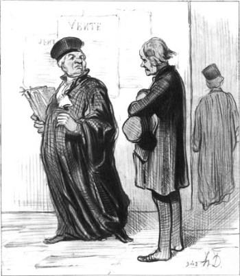 Lithograph by Honoré Daumier, 1846.