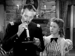 "Henry Fonda and Shirley Temple in ""Fort Apache"""