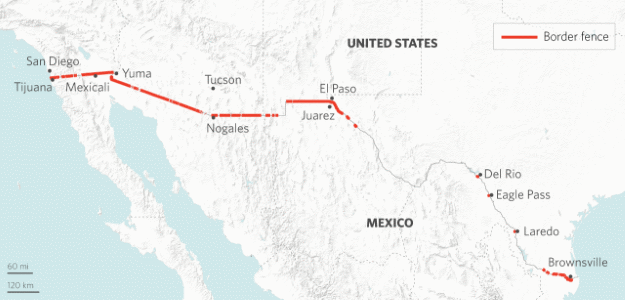 Stratfor The Hurdles To Building Trumps Border Wall - Map of border fence us mexico