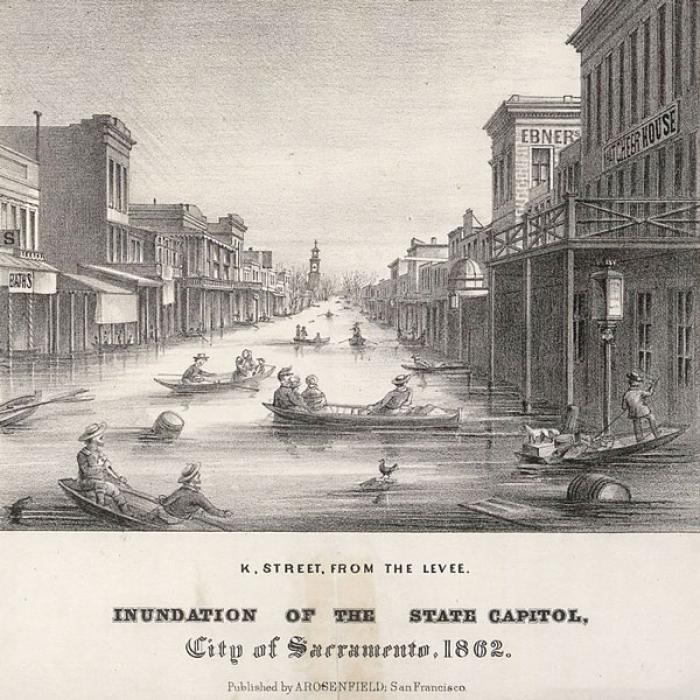 Sacramento during the 1862 flood