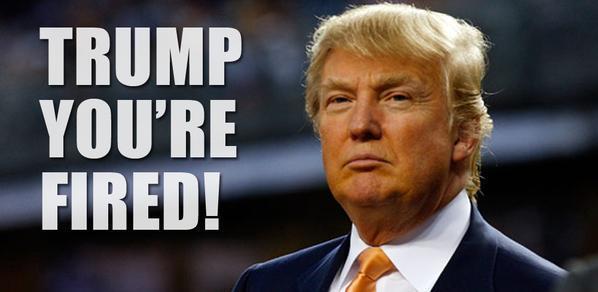 Donald Trump - fired