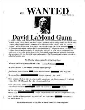 Wanted Poster for Dr. Gunn