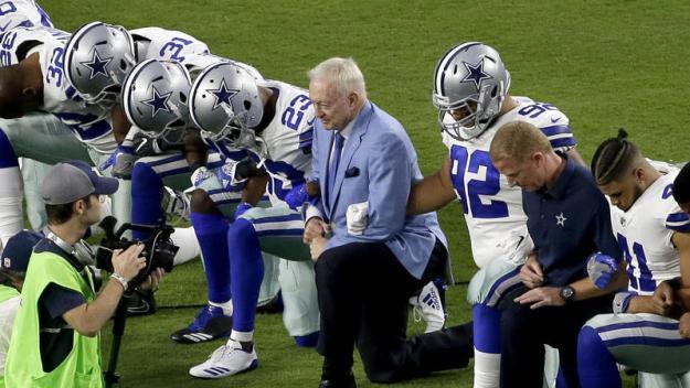 Dallas Cowboys protest