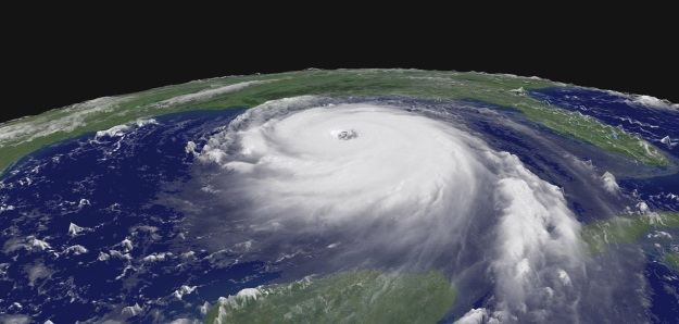 NASA photo of Hurricane Katrina on 28 August 2005