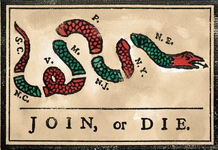 """Join Or Die'"