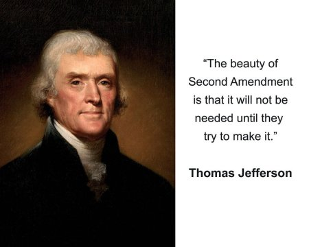 Fake gun quote by Jefferson