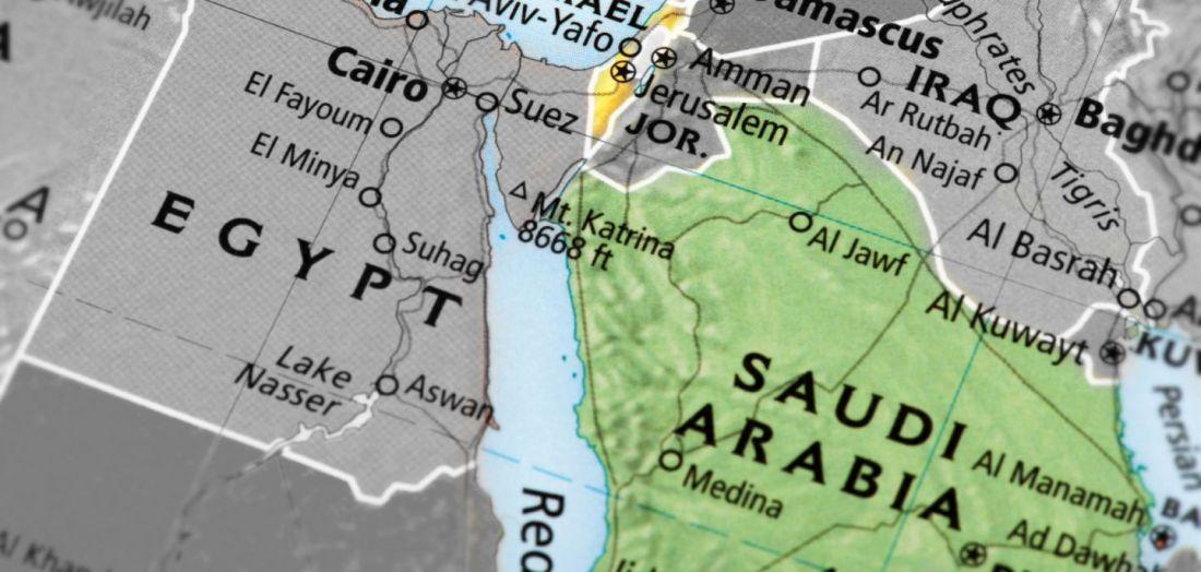 Saudi - Israel map