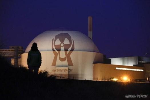 Projection on Borssele Nuclear Power Station