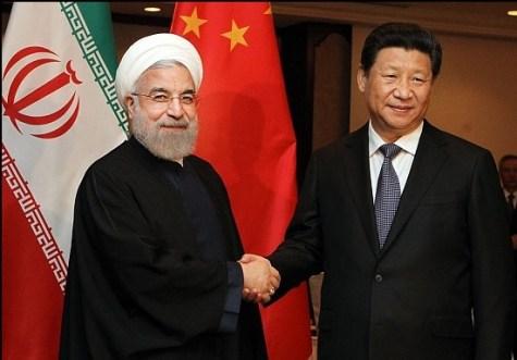Hassan Rouhani and Xi Jinping