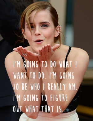 Emma Watson going her own way.