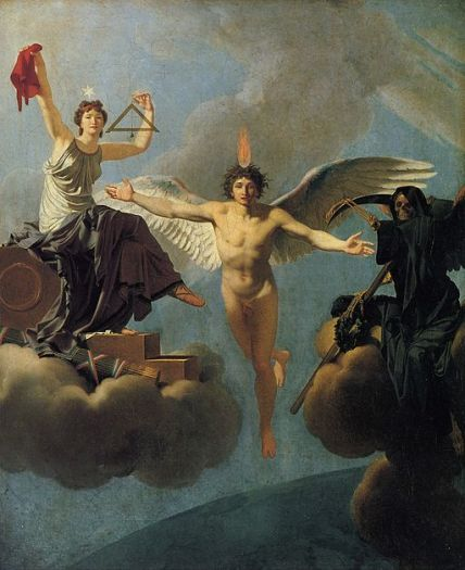 """The Genius of France between Liberty and Death"" by Regnault Henri."