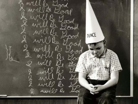 Punishment for dunces