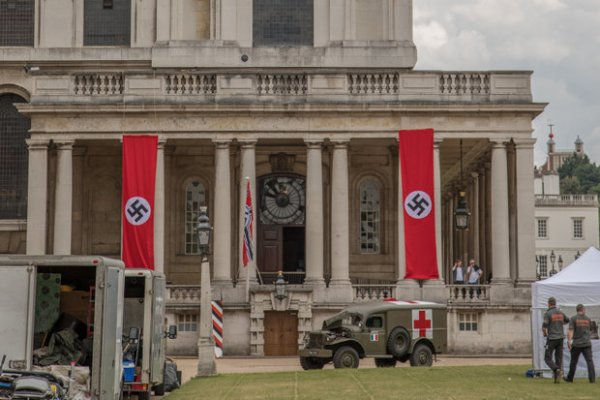 Nazi flags flying at University of Greenwich, London