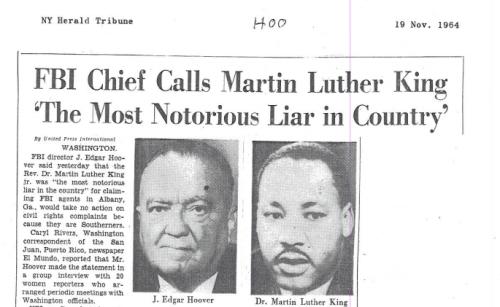 FBI lies about Martin Luther King Jr.