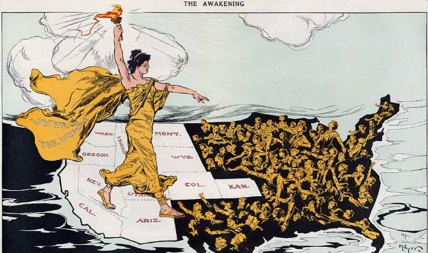 """The Awakening"" by Henry Mayer in Puck Magazine, 20 February 1915,"