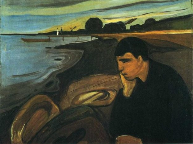 Melancholy by Edvard Munch (1894)