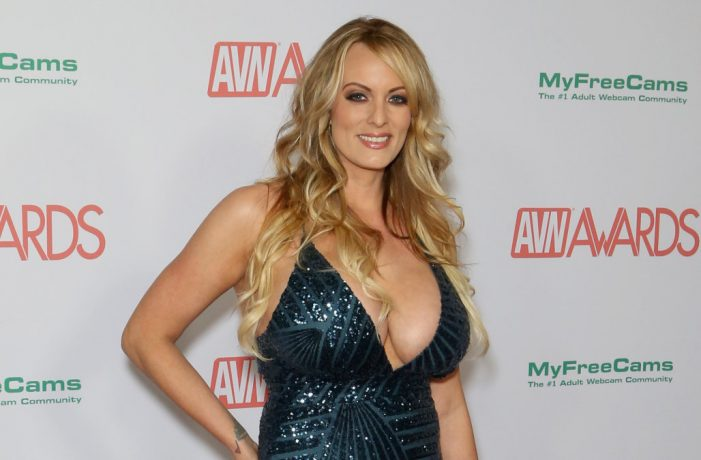 Stormy Daniels at the 2018 Adult Video News Network Awards