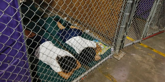 Two females in a holding cell