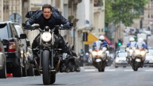 Tom Cruise on a motorcycle