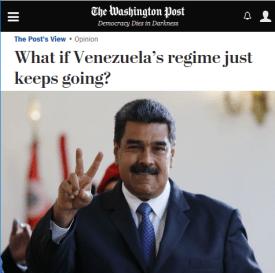 WaPo on the Venezuela Regime, 19 May 2018.