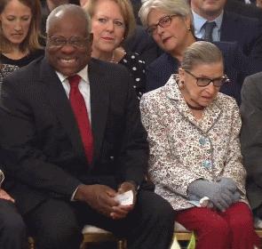 Ruth Ginsburg and Clarence Thomas