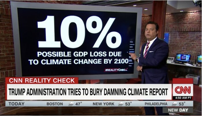 CNN: Ten Percent hit to GDP from Climate Damage