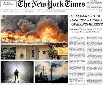 NYT front page on 24 November 2018