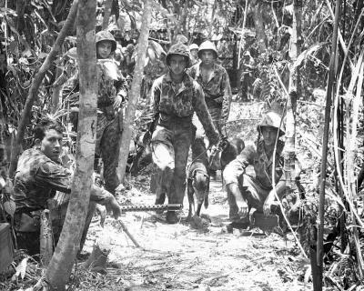 Marine Raiders at Bougainville in November 1943