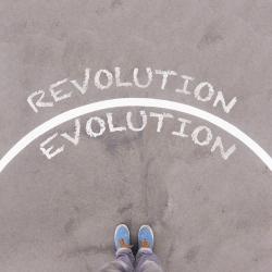Choose Evolution or Revolution - dreamstime_86092871