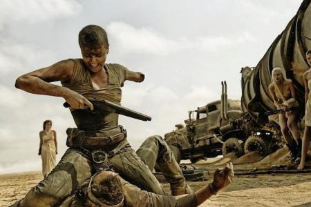 "Furiosa in ""Mad Max: Fury Road"""