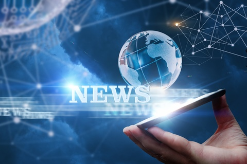 News from the network from a mobile device.