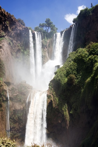 Ouzoud waterfalls in Morocco.