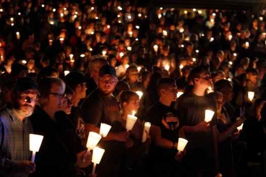 Vigil for mass murder