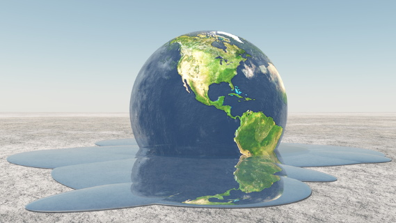 Earth melting - Dreamstime-33491903
