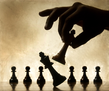 Checkmate - last move in a game of chess.