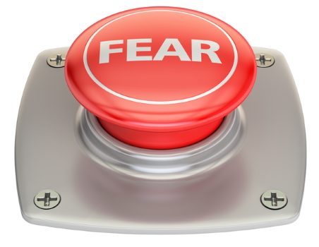 Big red fear button.