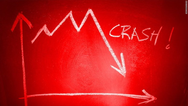Graph of market crash