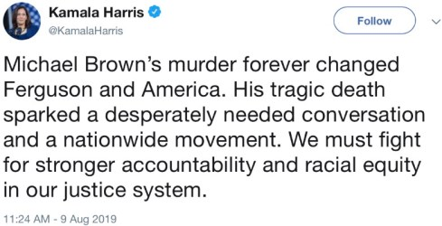 Kamala Harris Tweet - 2018-08-09